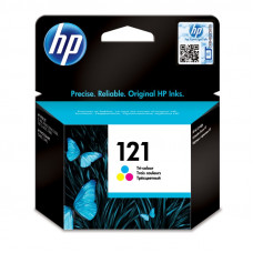 HP  121 TRI-COLOUR INK CARTRIDGE WITH VIVERA INKS - OfficeJet D2563, D1560
