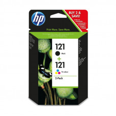 HP  121 COMBO-PACK BLACK/TRI-COLOR INK CARTRIDGES - OfficeJet D2563, D1560