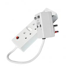 TV/SAT 3 Multiplug Surge Protector