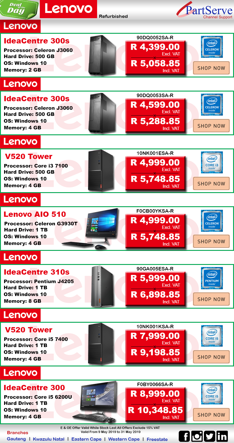 Lenovo Desktop Deals