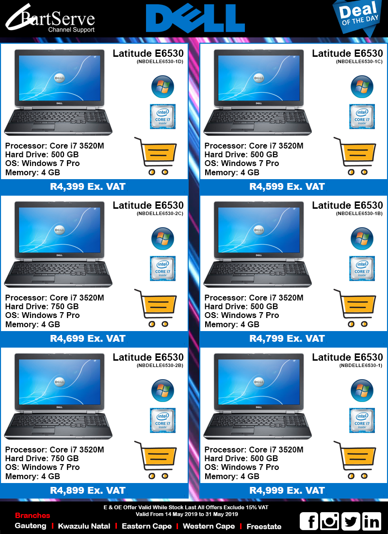 Dell i7 Notebooks
