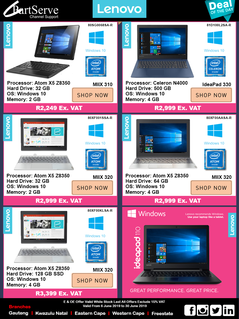 Lenovo Notebook Deals