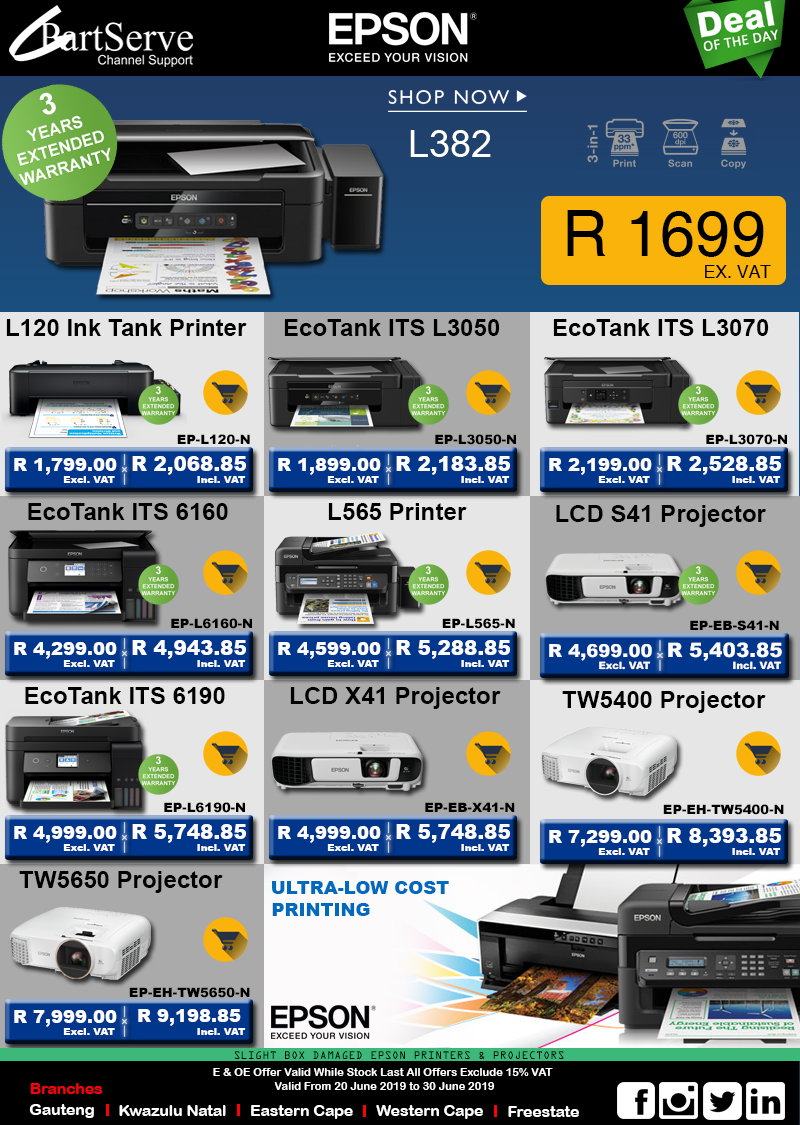 Epson Printers and Promotions