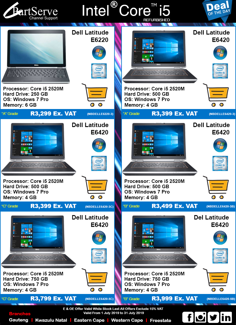 Dell i5 Notebooks