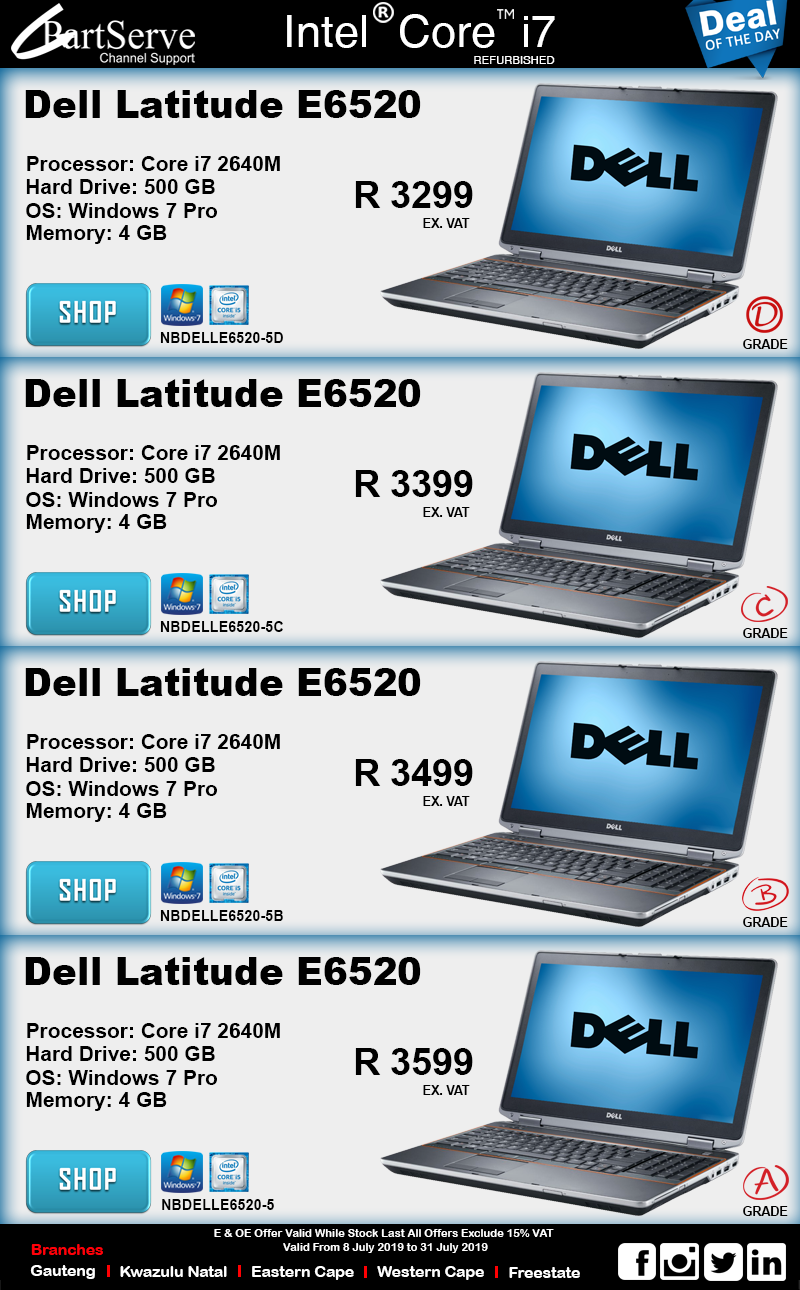 Dell Latitude i7 Notebooks