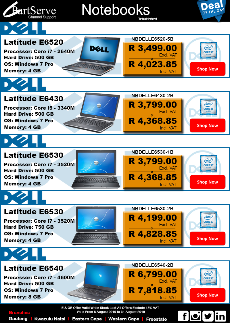 Dell Intel Notebooks